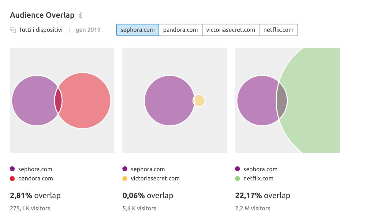 Audience overlap: come ottenere informazioni su possibili partner