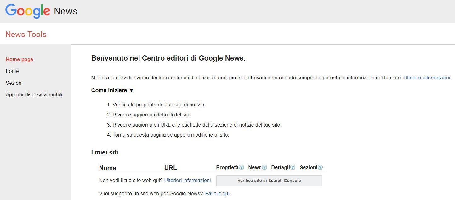 centro editori Google News
