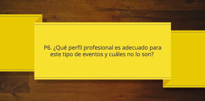 Perifl profesional más adecuado en eventos de marketing P6