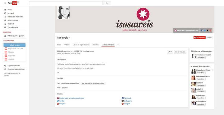 Isasaweis canal YouTube