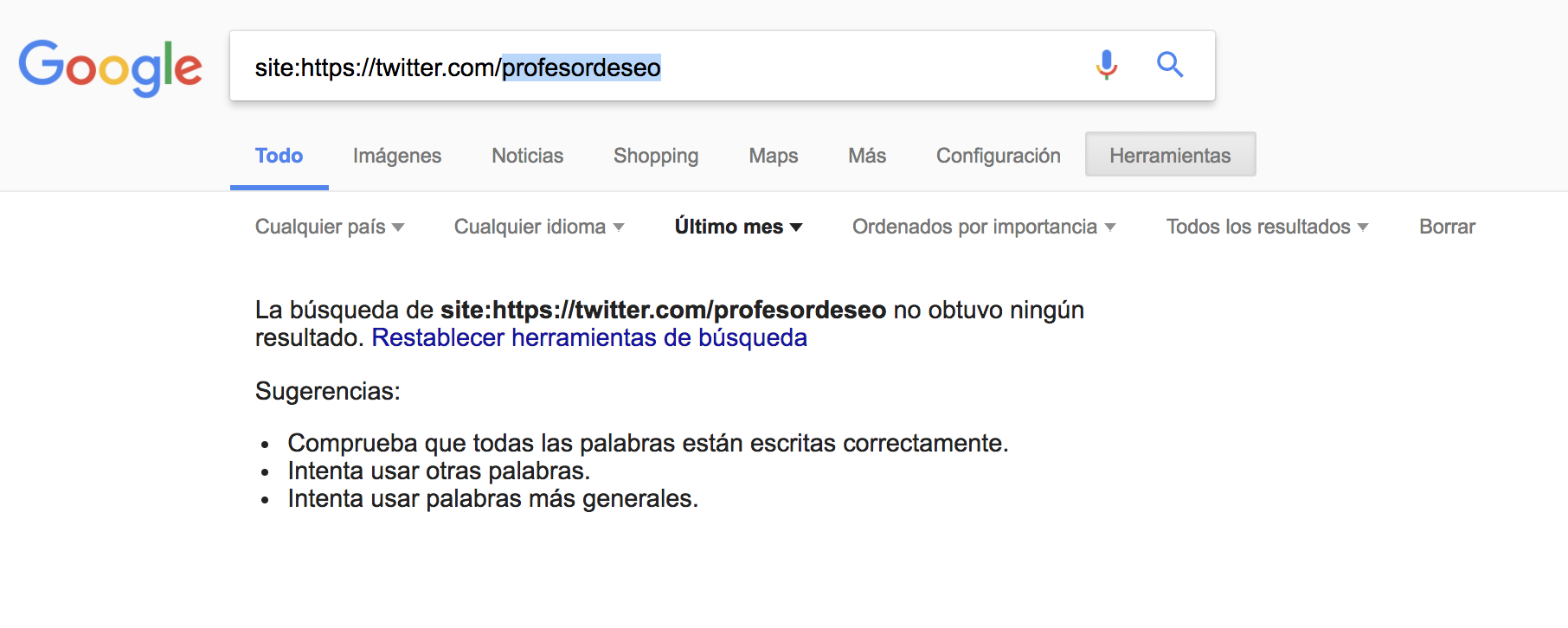 SEO en redes sociales - Twitter @profesordeseo