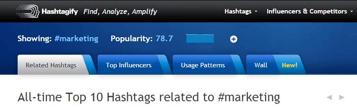 Cómo crear un hashtag-hashtagify.me