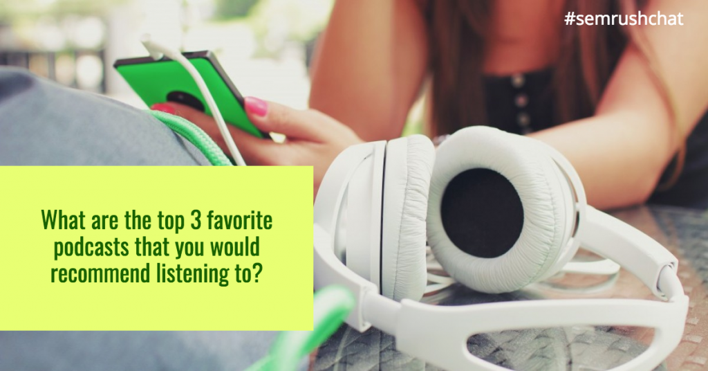 List of marketers' favorite podcasts