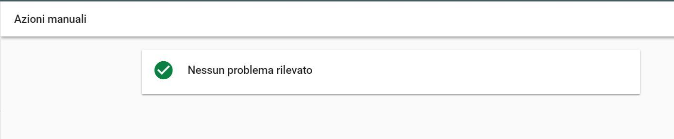 Azioni manuali Search Console