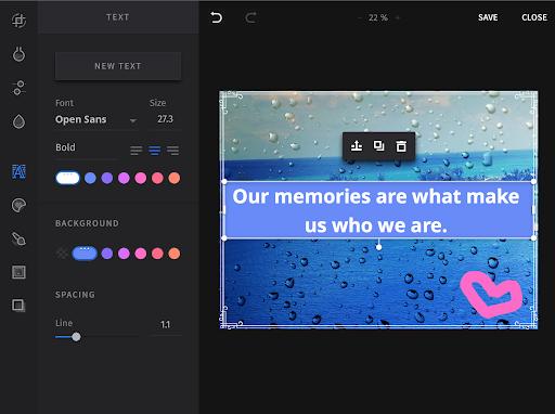 Con l'editor online di SEMrush puoi aggiungere testi alle tue immagini