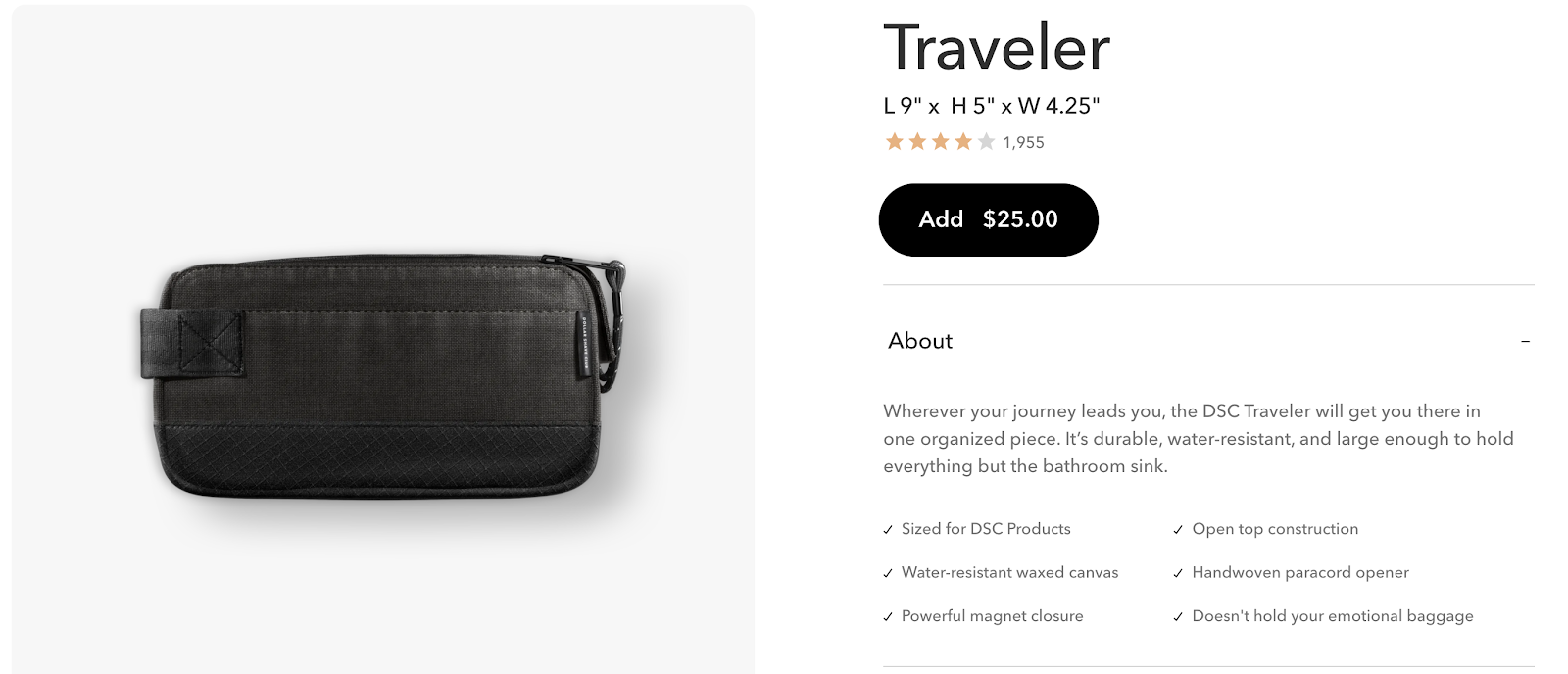 product description_traveler bag