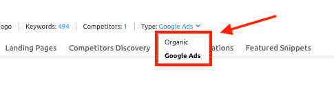 Position Tracking Keyword Type Adwords