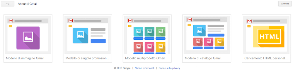 GMail Sponsored Promotion: i 5 formati di annuncio disponibili