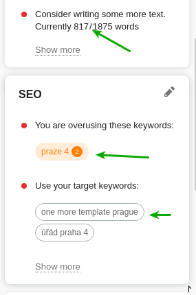 SEO Writing Assistant add-on