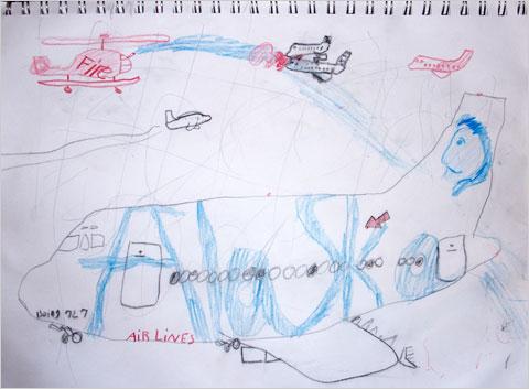 El avión contra el fuego de Harry para Boeing