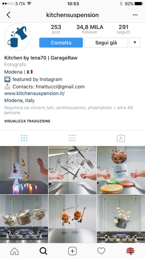 Come usa Instagram un brand nazionale: Kitchensuspension