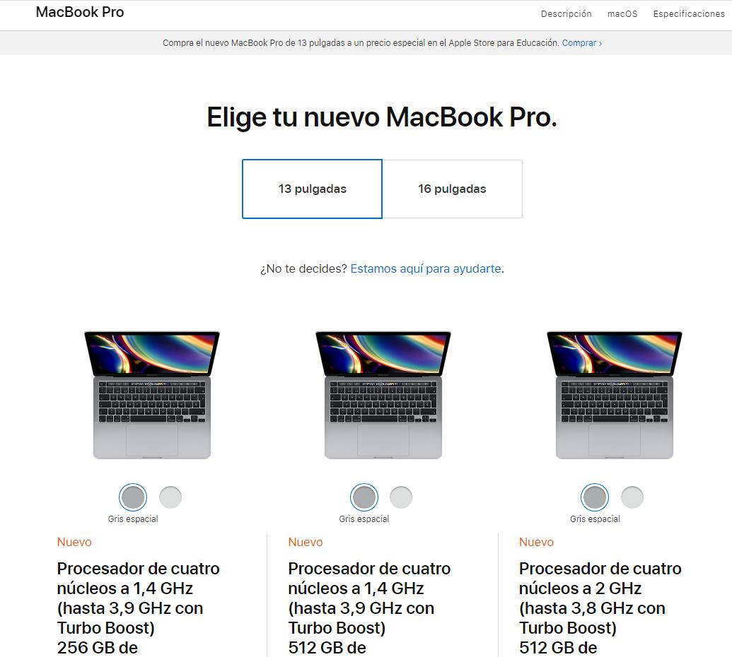 """Canibalización de palabras clave - Comprar MacBook Pro 13"""""""