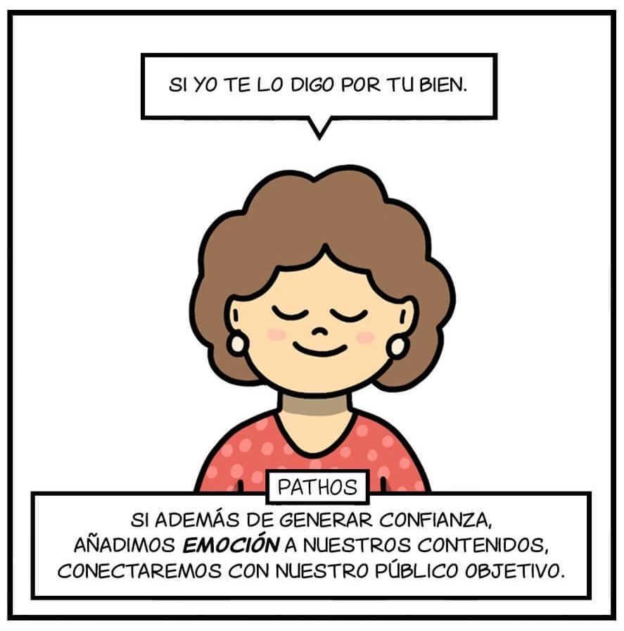 Principios de persuasión de Aristóteles y tu madre