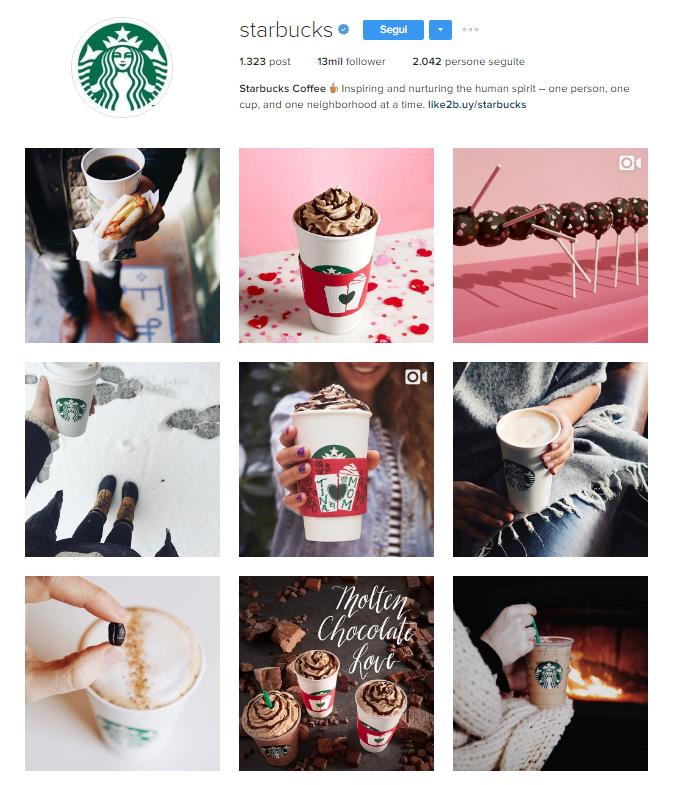 Profilo Instagram Starbucks: come si promuove un brand correttamente