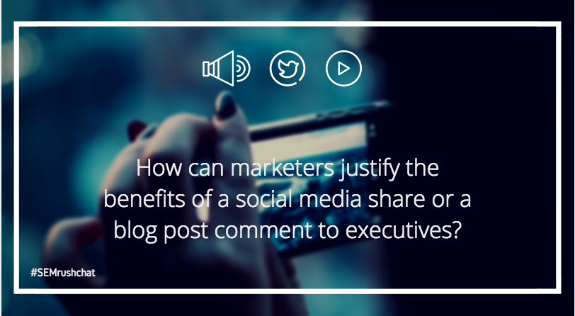 How to justify benefits of a social media share to executives