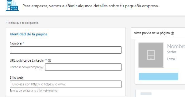 Páginas de empresas en LinkedIn - Diseño