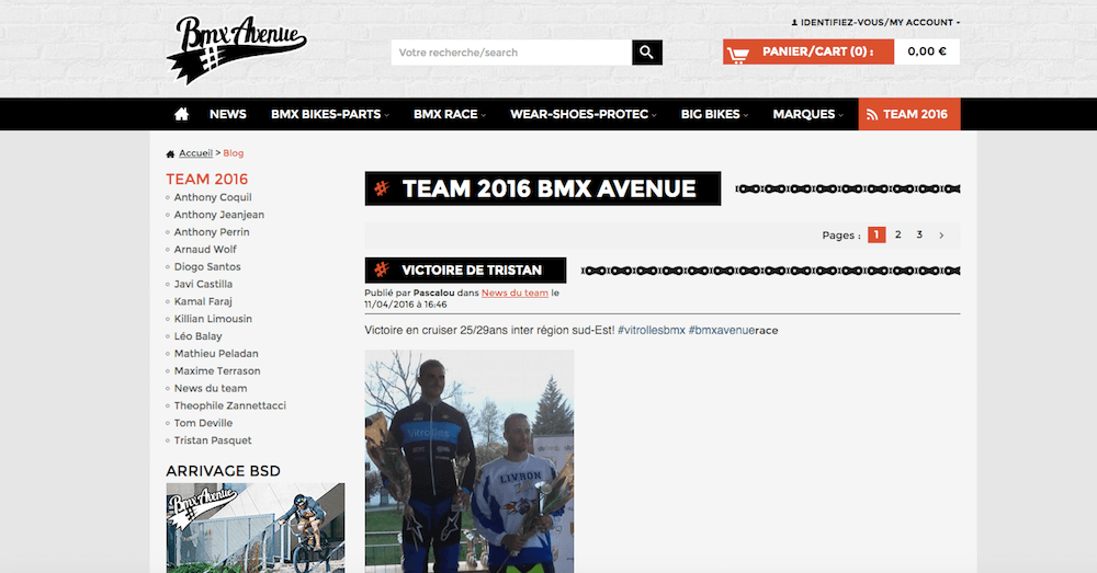 Come Bmx Avenue sfrutta il blog per incrementare le vendite dell' eCommerce