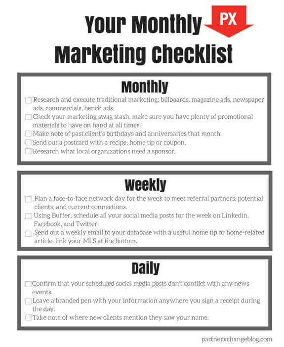 Ejemplo de checklist