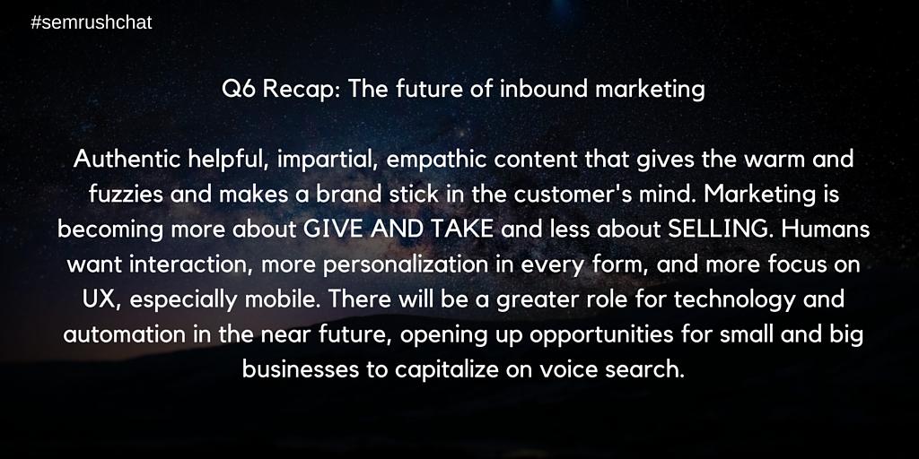 The future of inbound marketing