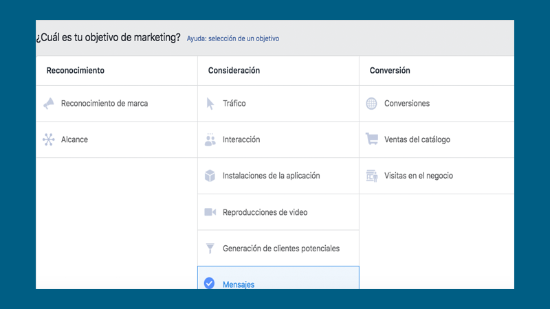 Buyer journey - Objetivos de marketing Facebook ads
