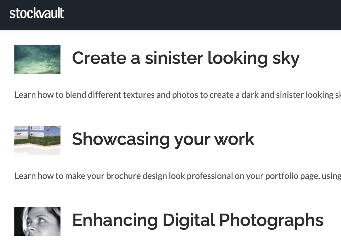 stockvault image tutorials