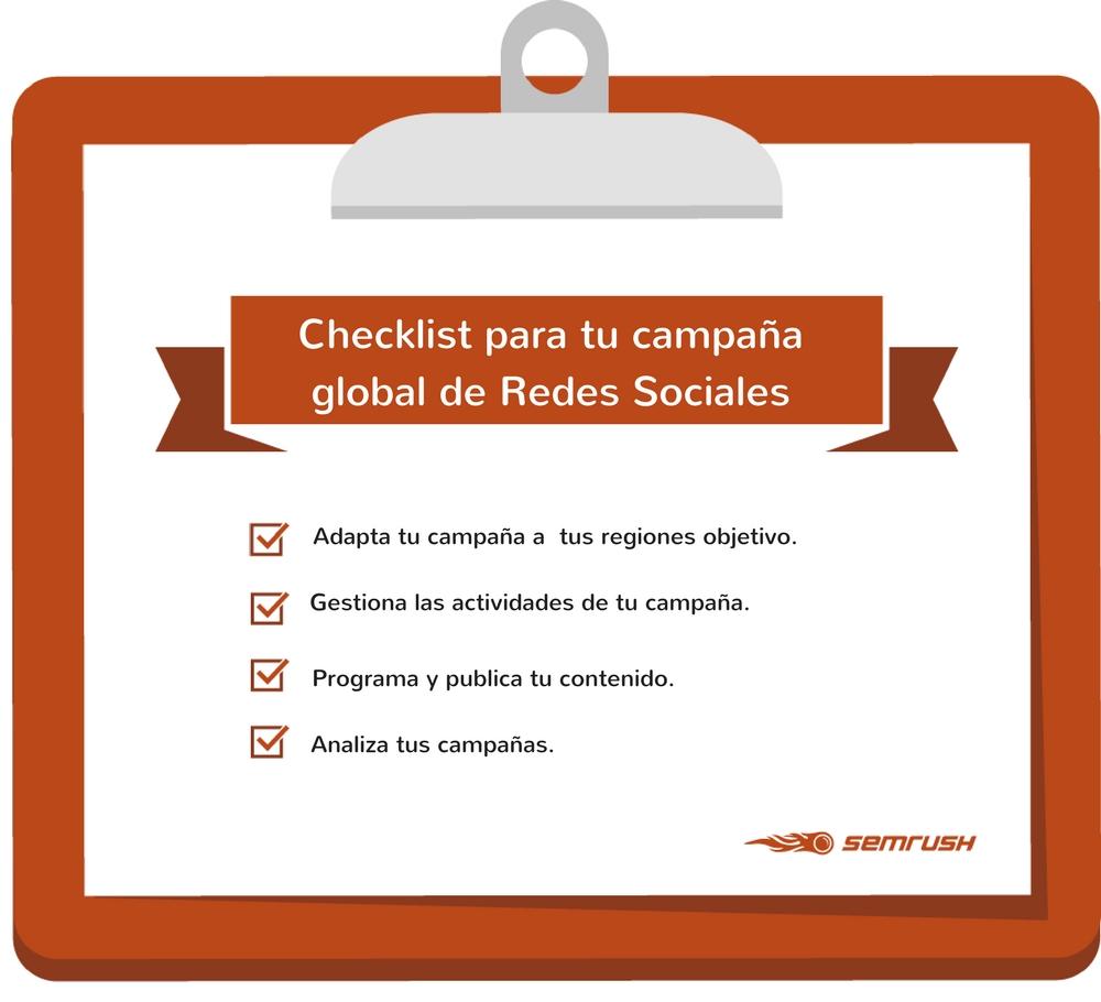 Campañas de éxito en Redes Sociales - Checklist