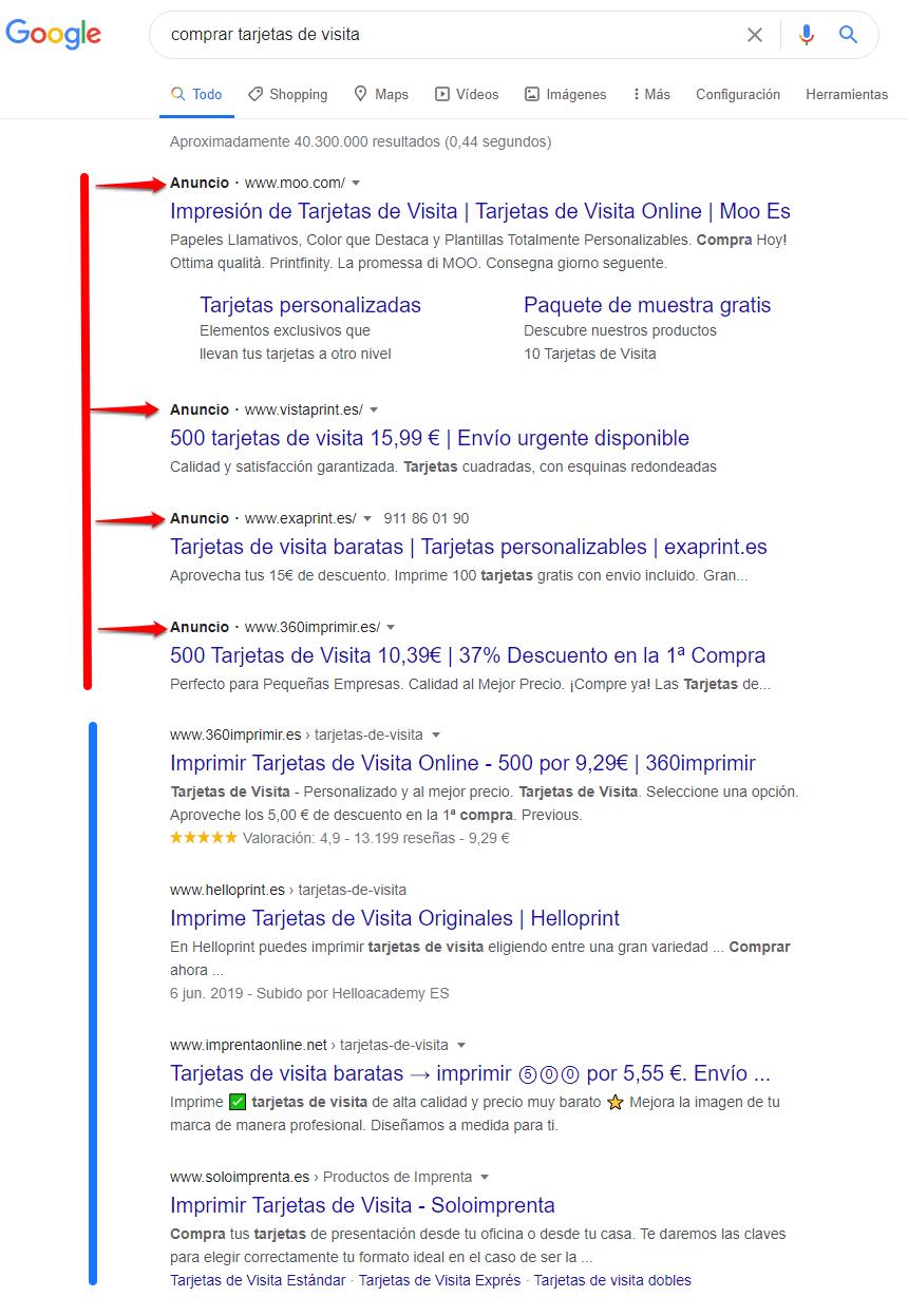 Qué es SEO - Resultados de búsqueda en Google