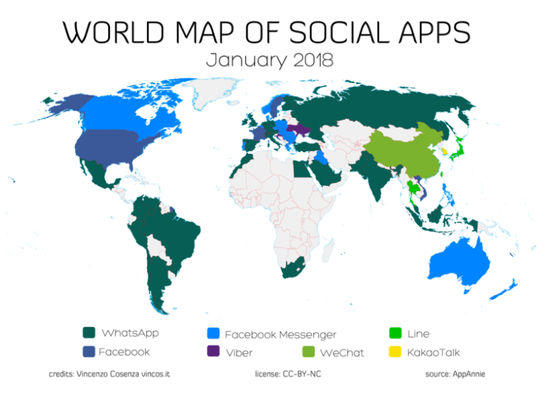Marketing conversazionale: le app di messaggistica più usate nel mondo