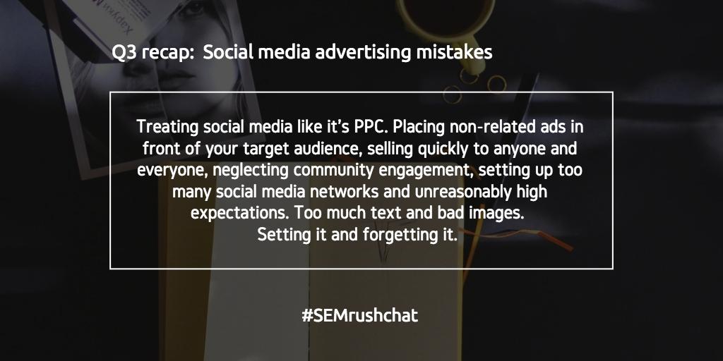 Social media advertising mistakes