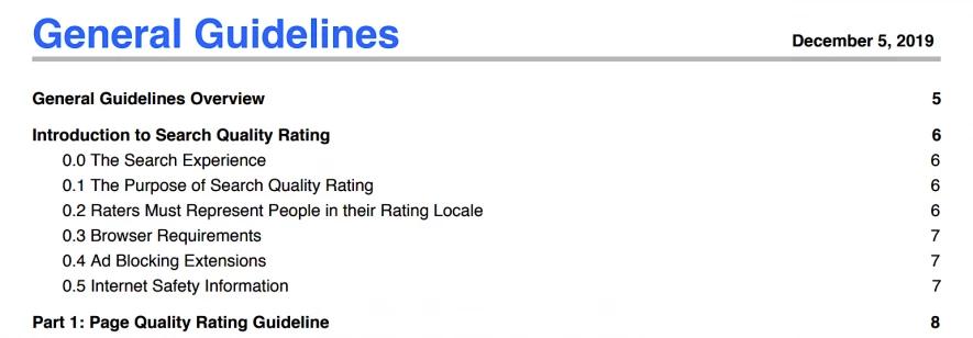 Qué es SEO - Directrices Google de calidad