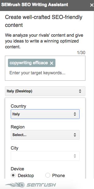 I consigli diSEO Writing Assistant per scrivere contenuti
