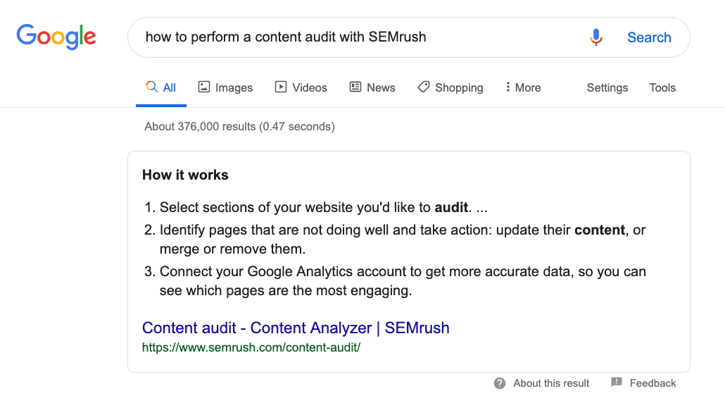 Cómo usar SEMrush para marketing de contenidos. Imagen 7