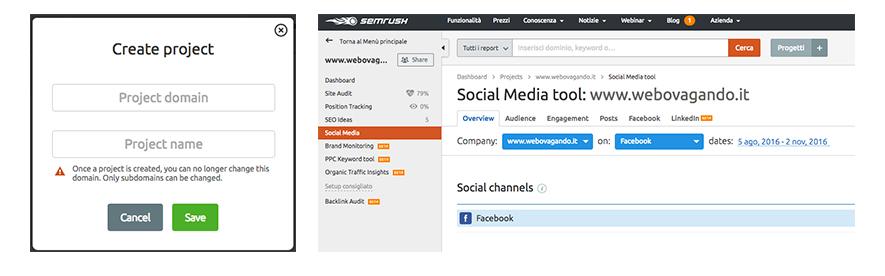 social media tool semrush