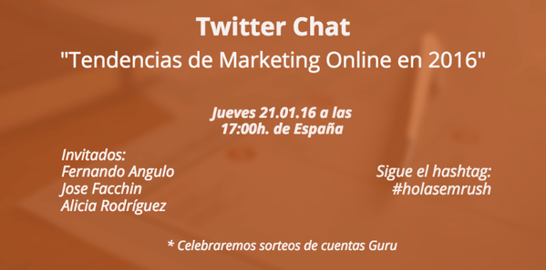 Tendencias de Marketing Online Twitter Chat