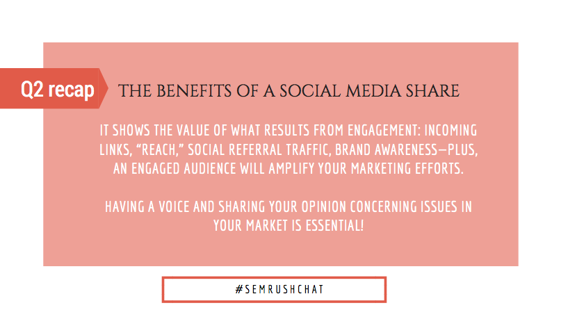 The benefits of a social media share