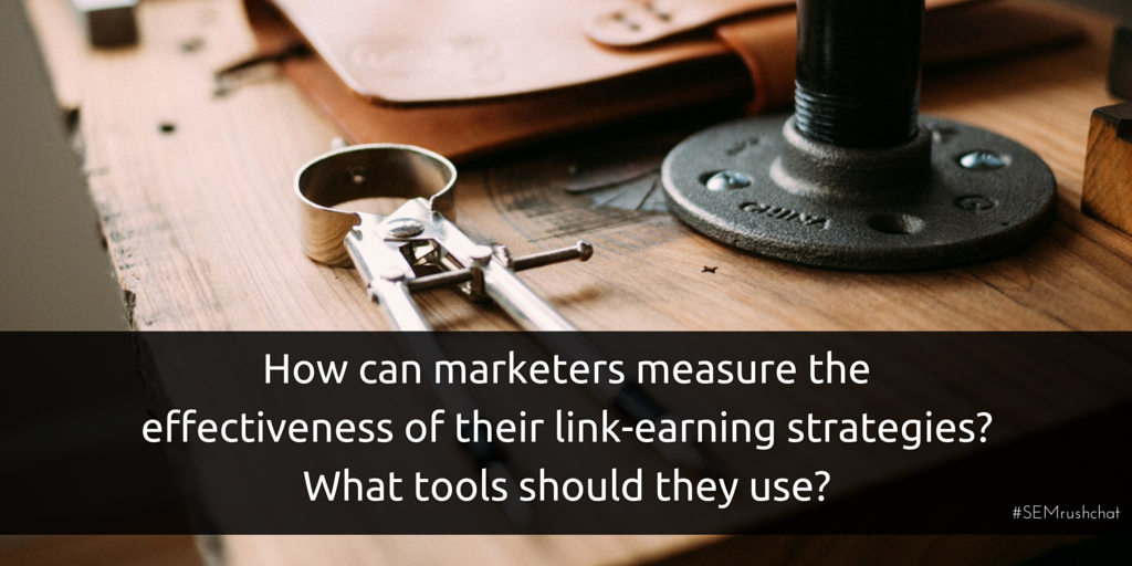 Measuring effectiveness of link-earning strategies