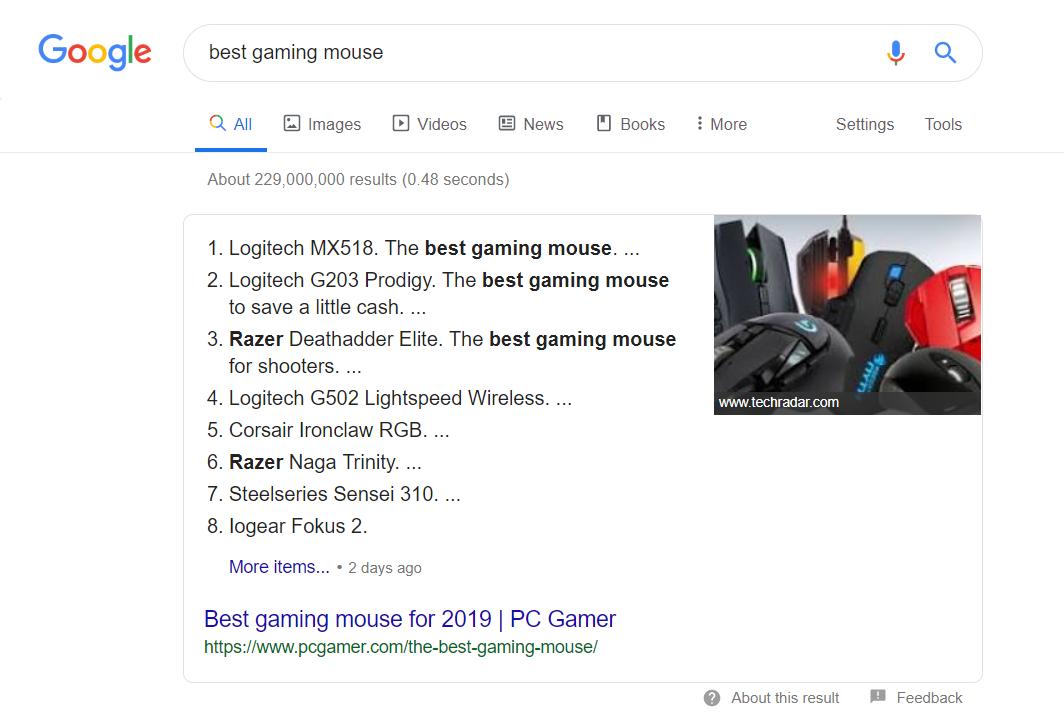 Google List Post