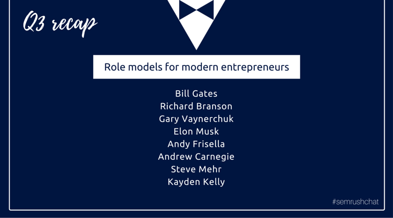 entrepreneur's role model