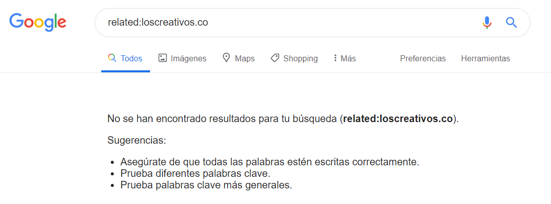 Linbuilding de calidad - Related de relevancia en Google