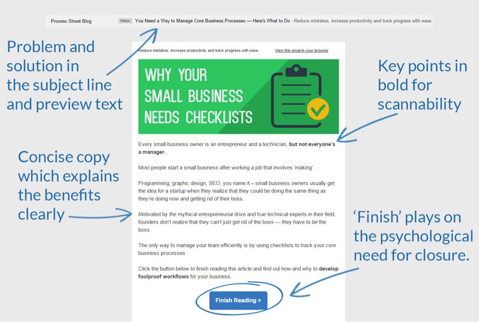 Optimized Email Clear CTA