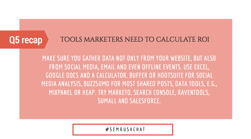 Tools marketers need to calculate ROI