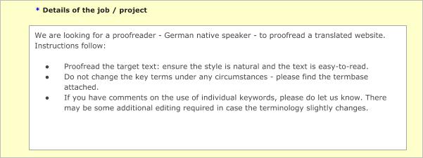 International SEO proofreader assignment