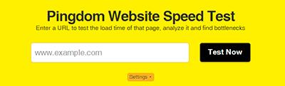 Pingdom: test de velocidad de carga web