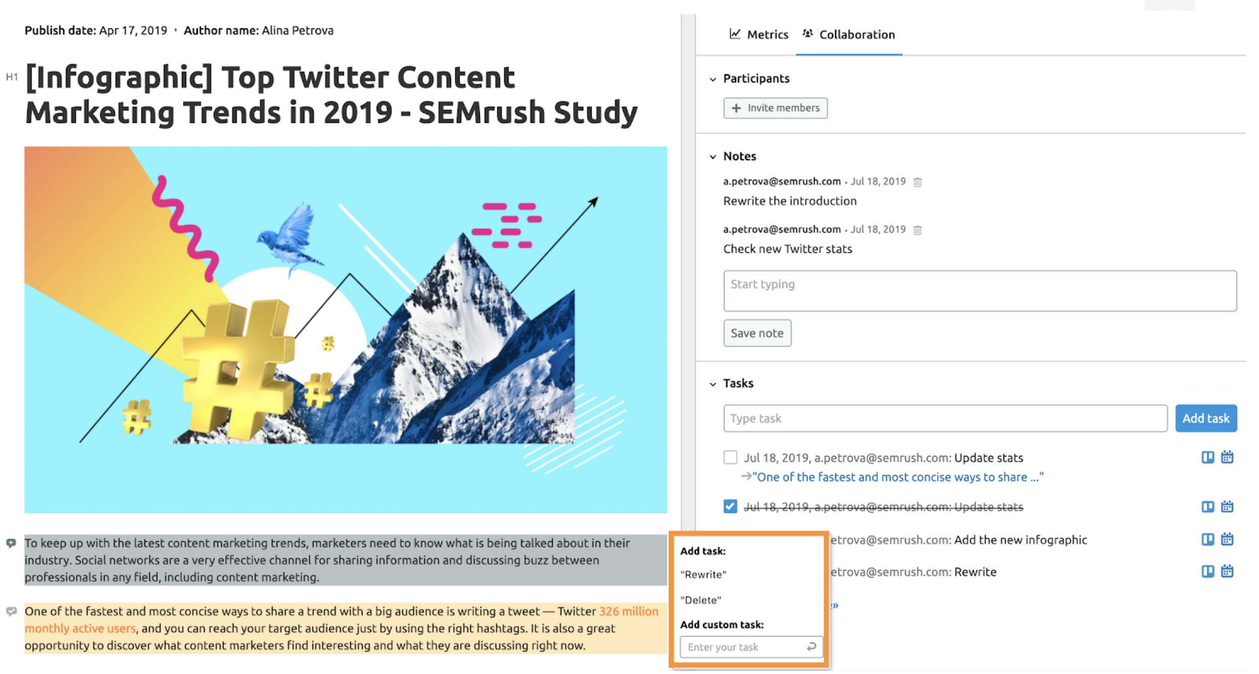 Content Analyzer SEMrush