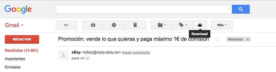 Descargar mails en PDF