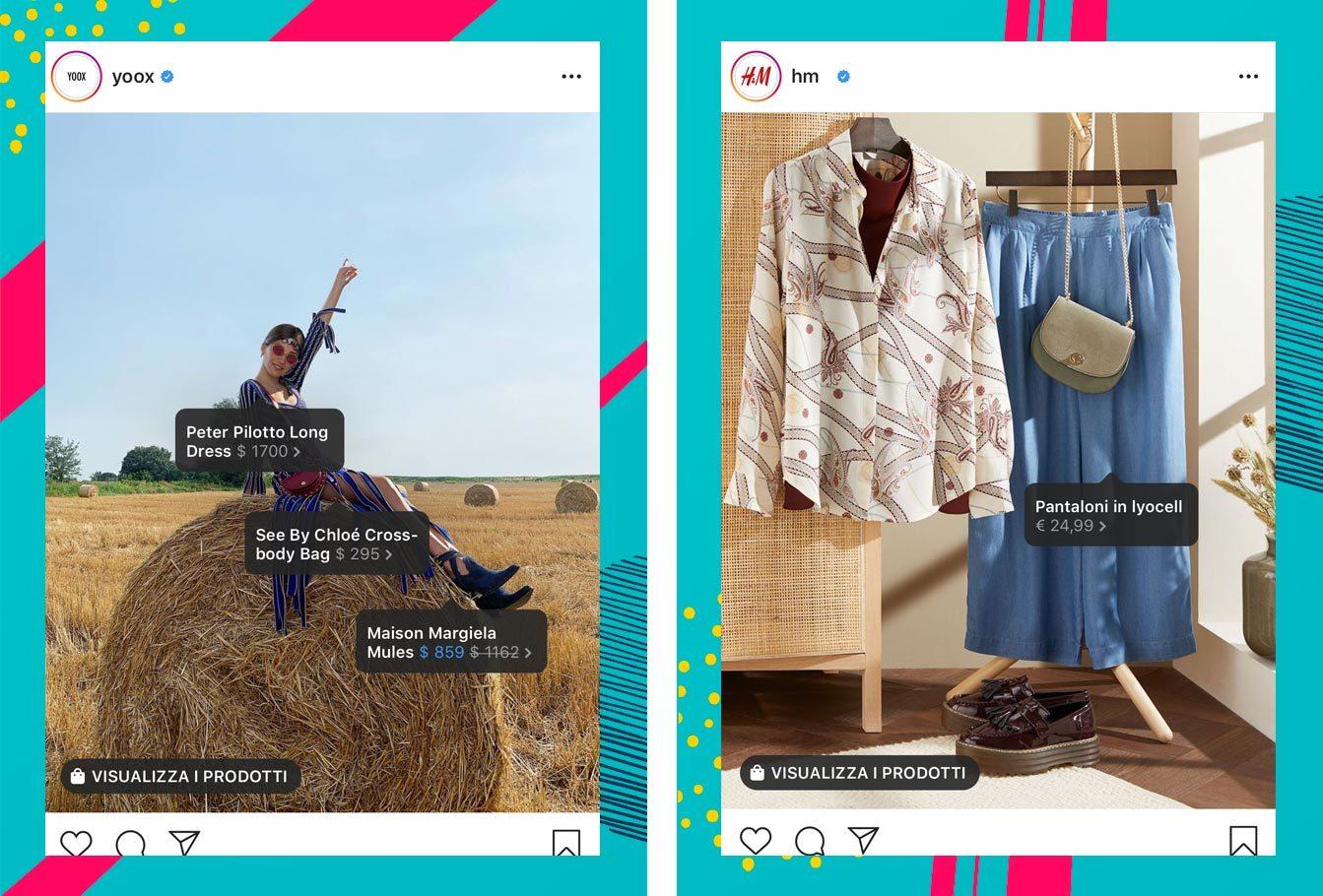 Esempi Instagram Shopping Fashion