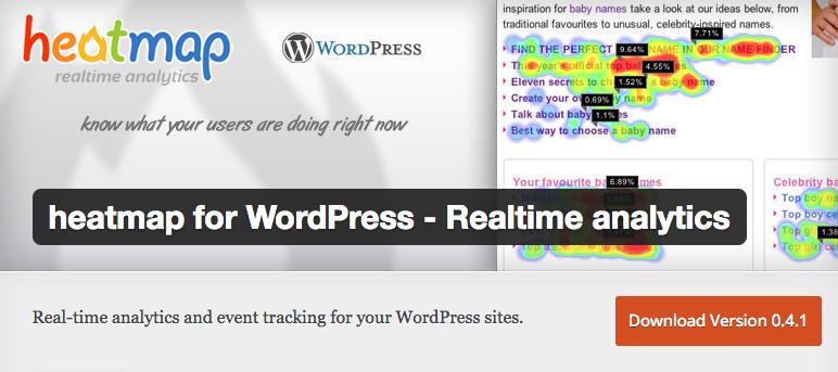 Heatmap for Wordpress per analizzare il comportamento degli utenti su WP