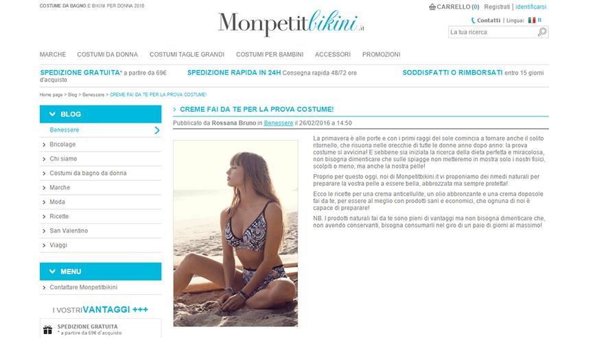 Esempio di uso di un blog per incrementare le vendite di un eCommerce