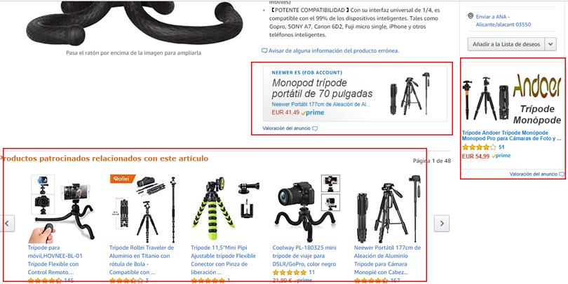 Publicidad en Amazon - Anuncios patrocinados