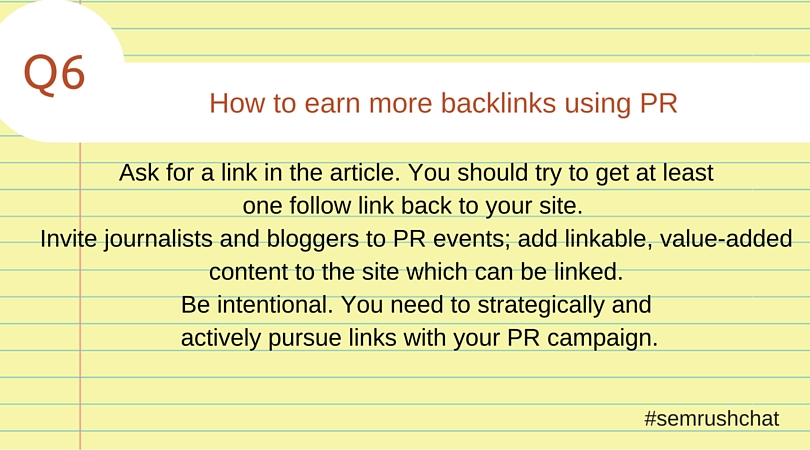 How to earn more backlinks using PR